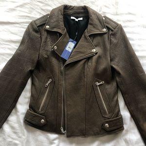 Rebecca Minkoff, genuine leather moto jacket.